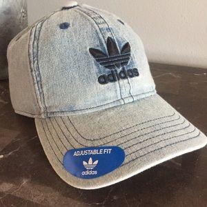 ADIDAS | Washed Denim Mens Cap Hat Trefoil Logo OS